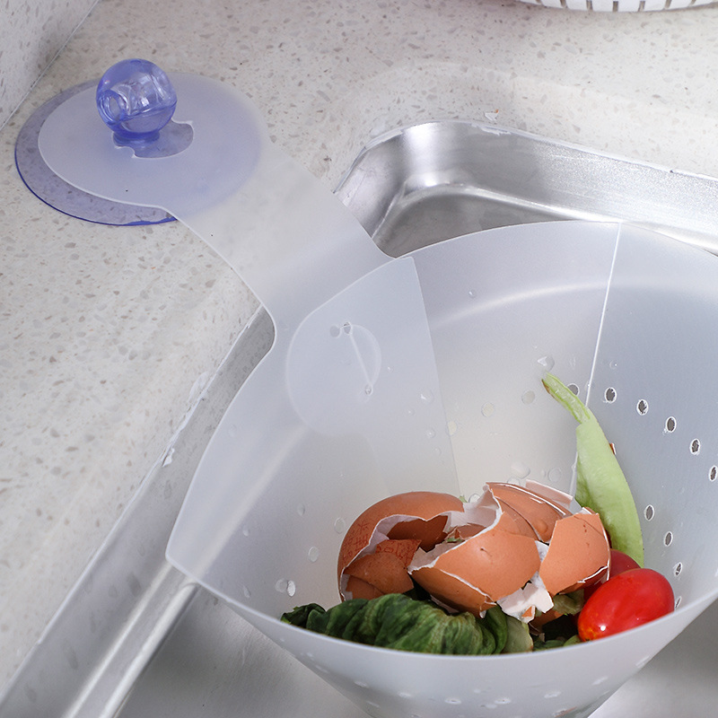 Kitchen Sink Garbage Bag Household Creative Perforated Water Draining Garbage Bag Suction Wall Kitchen Pool Filter Mesh Bag