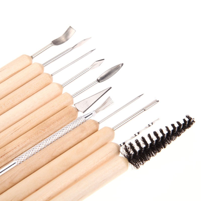 11 PCS set Professional Clay Sculpting Wax Carving Pottery Tools Sets Polymer Modeling Z in Pottery Ceramics Tools from Home Garden