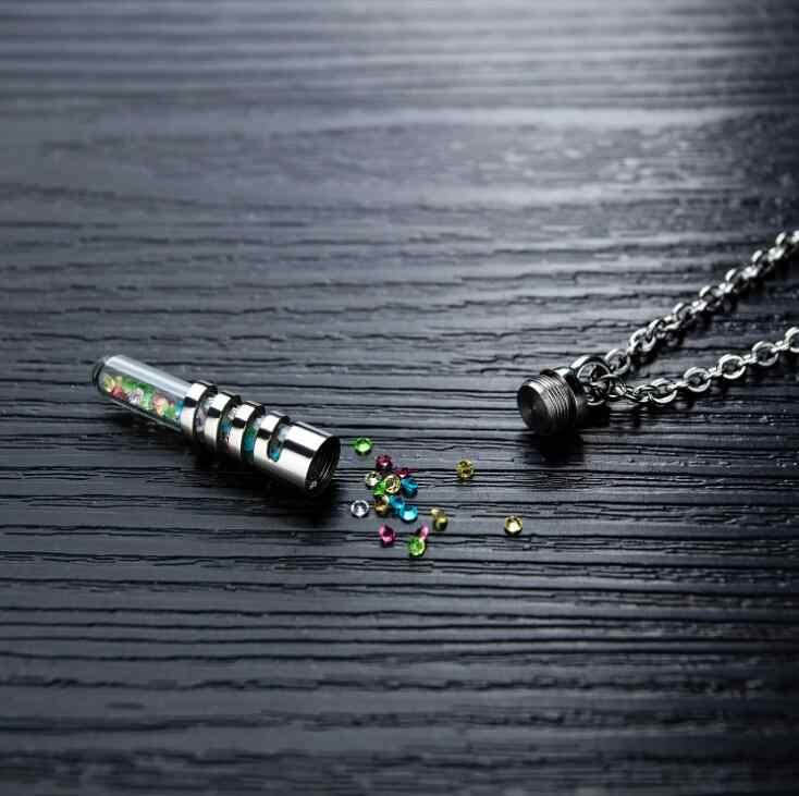 ステンレス鋼とねじ香水ネックレス形見メモリアルネックレス秘密ボックス