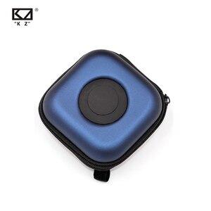 Image 3 - Orijinal KZ PU kılıf çantası kulaklık kulaklık aksesuarları taşınabilir kasa basınç şok emme saklama paketi çantası Logo