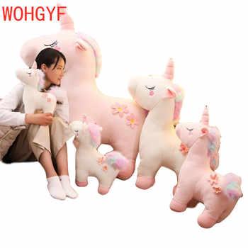 130cm Jumbo White Pink Unicorn Plush Toy Giant Unicorn Stuffed Animal Horse Toy Unicornio Peluche Doll Gift Children Photo Props - DISCOUNT ITEM  15% OFF All Category