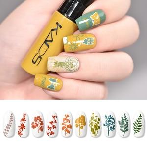 Image 3 - Esmalte de uñas estampado Set uñas plantillas barniz 10g 41 colores de esmalte de uñas Set 2 usos Nail art pen sellos uñas placas