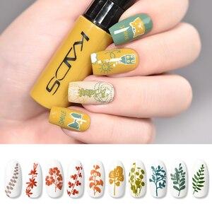 Image 3 - Nail Stamping Polish Set Nail stamp templates Varnish 10g 41 Colors Nail Polish Set 2 uses nail art pen Stamps Nails nail plates