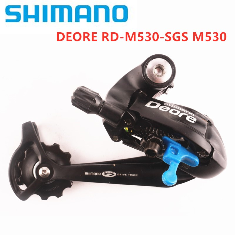 SHIMANO DEORE RD M530 SGS Bike Bicycle MTB 9 Speed Long Cage Rear Derailleur MTB Mountainbike Bike Bicycle Accessories image