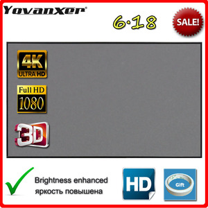 Yovanxer Projector Screen 72 84 100 120 130 133 inch Reflective Fabric for LED DLP Projector Home Beamer Enhance Brightness(China)