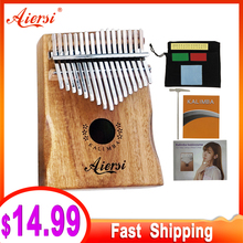 Bag Book Tune-Hammer Gecko Kalimba Thumb Instruction Musical-Gift Aiersi 17-Keys Koa