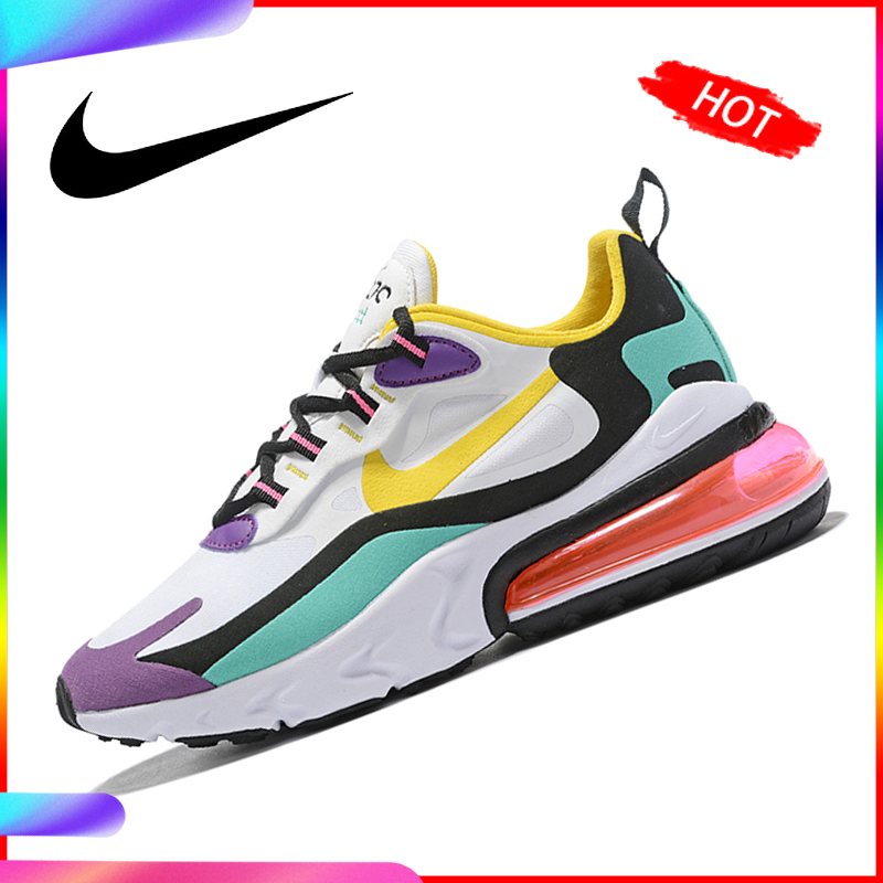 Original Nike Air Max 270 React Women's Running Shoe Breathable Air Cushion Classic Outdoor Sneakers 2019 New Massage AT6174-002