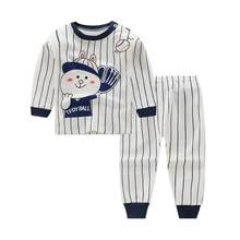 2pcs Cotton Baby Boy Clothing Sets Baseball Sports Boy Set Long sleeve T-shirt + pant Sets Toddler Clothing Baby Boy Clothes(China)