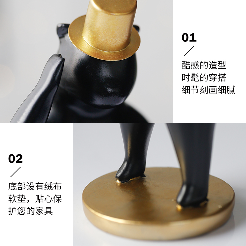 Купить с кэшбэком Nordic Resin Animal Mmodel Decorate For Home Accessories Bear Figures Craft Supplie Desk Office Souvenirs Gifts for friends