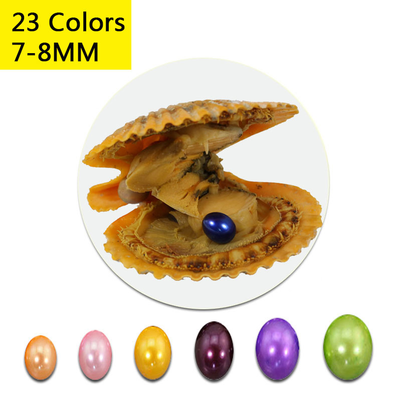 Bulk 7 8mm Oval Pearl Oyster with Vacuum Packing Scallop Pearl Oyster Oval Rice Pearl In Red Oyster 23 Colors Free Shipping PB29-in Beads from Jewelry & Accessories    1