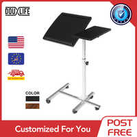 Douxlife Computer Desk Height Adjustable Portable Laptop Table Rotate Laptop Bed Table Home Office Lift Computer Standing Desk