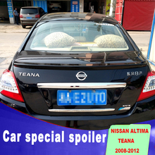 цена на 2008 2009 2010 2011 2012 for nissan altima spoiler  ABS material any color paint teana spoiler by rear trunk roof primer spoiler