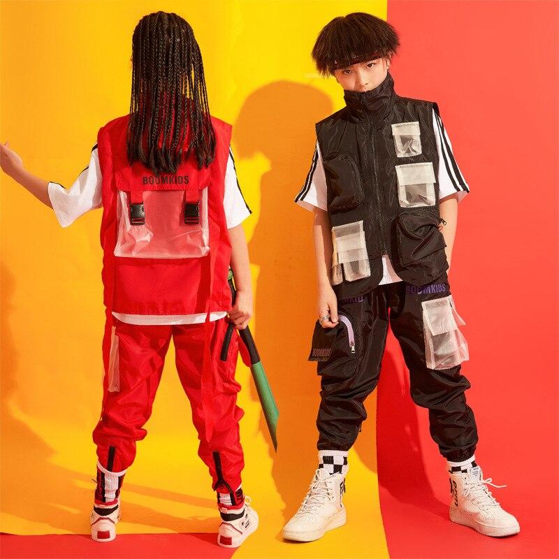 CHILDREN'S Jazz Drum Kit Costume Big Boy Fashion Rock And Roll BOY'S Handsome Set GIRL'S Hip Hop Trend Hip Hop Clothing