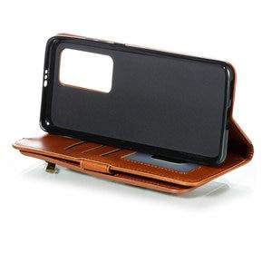 Image 5 - P40Pro P40 Lite P 40 Flip Case Multifunction Zipper Leather Wallet for Huawei P40 Pro Plus Case Card Slot Funda Huawei P40 Cover