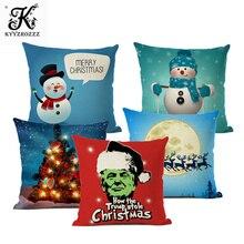 2019 New Merry Christmas Santa Claus Cushion Cover Christmas Car Home Sofa Decorative Pillowcase Plush Throw Pillow Case Cover linen seat cushion merry christmas pillow cover
