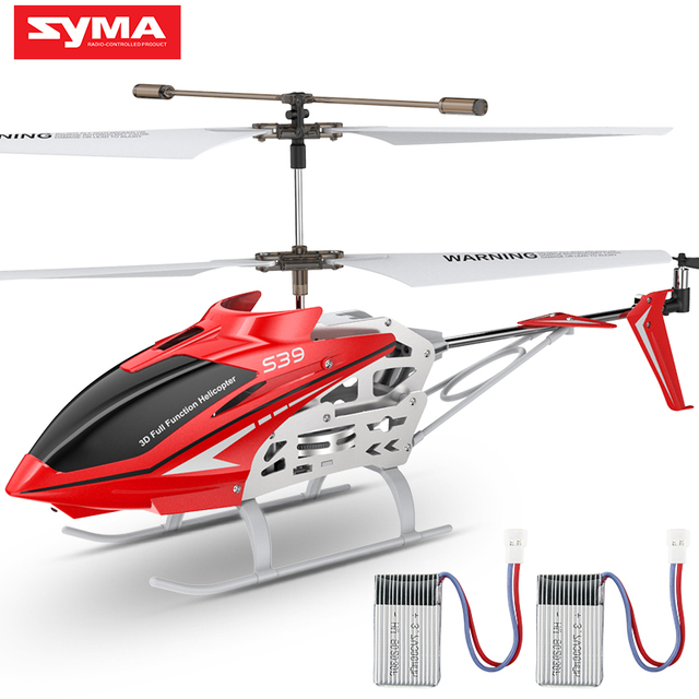 SYMA Official S39 3CH RC Helicopter with Hover Altitude Hold Function Aluminum 2 Batteries Anti Shock Remote Control Toy Gift