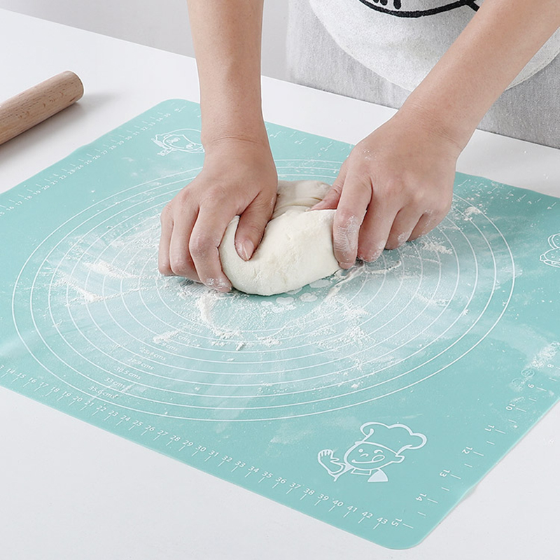 Non-Stick Silicone Pastry Mat With Measurement 50X40CM Baking Mat Counter Dough Rolling Mat Oven Liner Fondant/Pie Crust Mat New