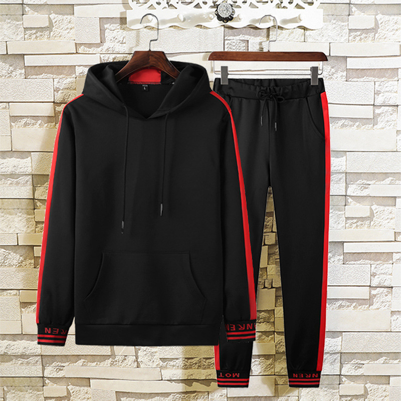 Sports Set Men's Winter Hoodie Sweatpants Trousers Thick Warm Casual Sports Clothing Two-Piece Set