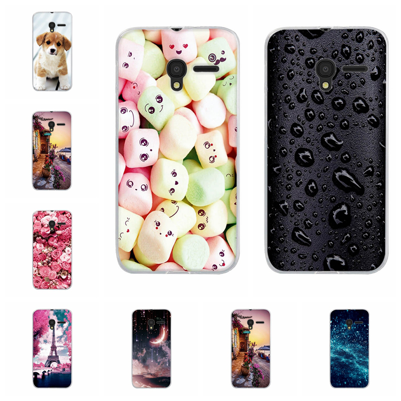 For <font><b>Alcatel</b></font> Pixi <font><b>3</b></font> 4.5 Pixi 4 5.0 <font><b>Case</b></font> Floral Pattern For Capa <font><b>Alcatel</b></font> One Touch Pixi <font><b>3</b></font> 4.5 5017 5017D 5019D Soft Silicone Cover image