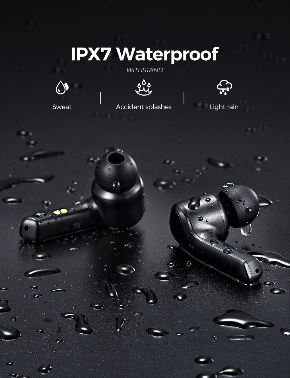 Original Mpow MS1 Wireless TWS Earphones Bluetooth Earbuds Touch Control with Charging Case 25Hrs Playtime Earphopne with Mic (5)