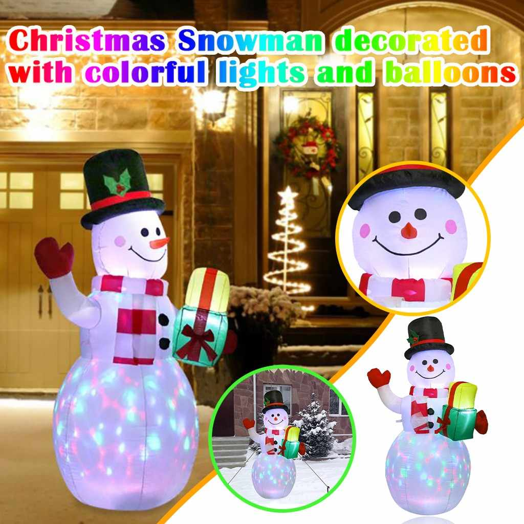1 5m Christmas Inflatable Snowman Lantern Luminous Indoor And Outdoor Decoration Christmas Decorations For Home Navidad Holiday Lighting Aliexpress