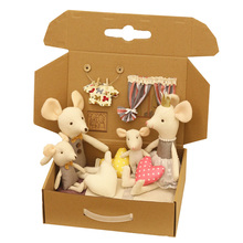 Toys Dolls Play-House-Toys Mouse Mini Kids for Cute Baby Boy Girl The Family