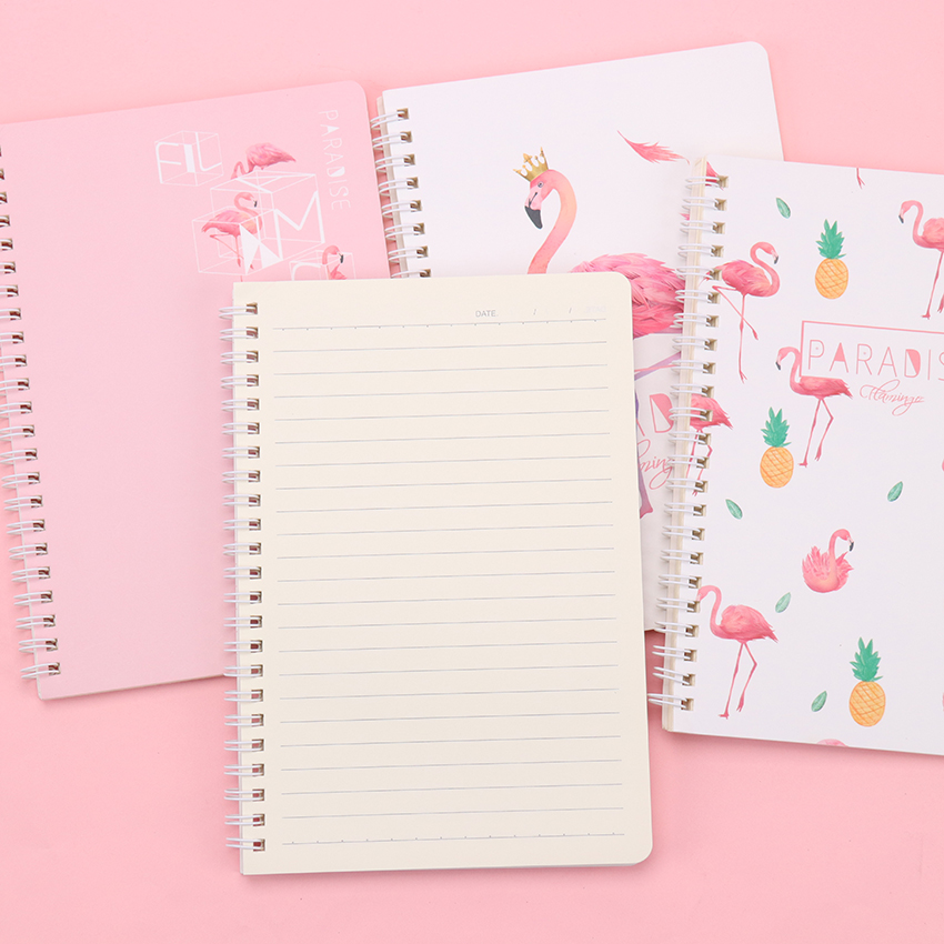 120 Pages <font><b>A5</b></font> <font><b>Spiral</b></font> Book Coil <font><b>Notebook</b></font> Students Cute And Creative Fresh And Fresh Paper Journal Diary School Supplies Stationery image