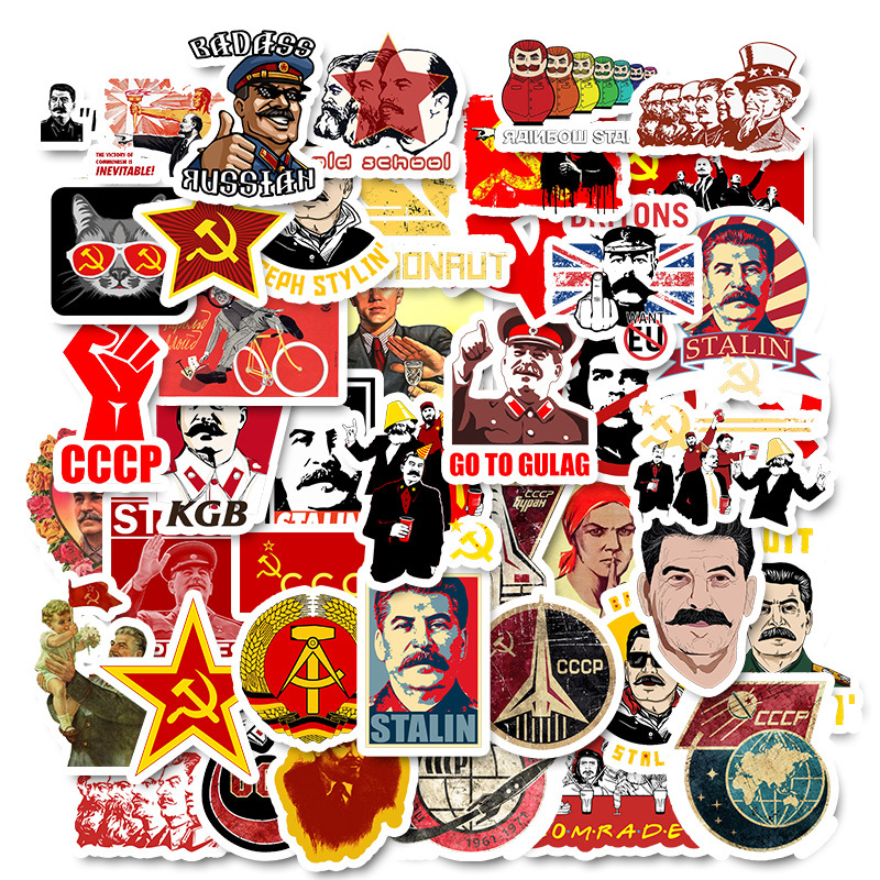 50pcs/Pack Soviet Union Stalin USSR CCCP Graffiti <font><b>stickers</b></font> For Skateboard Motorcycle Luggage Funny Graffiti Pegatinas image