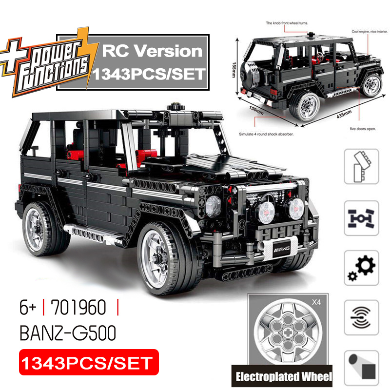 Rc Motor Technic 20100 Moc 2425 Suv G500 Awd Wagon Car Sets Building Blocks Toys Gift Compatible Technik <font><b>701960</b></font> image