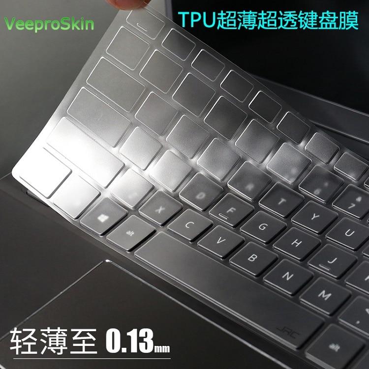 Desktop PC Keyboard Covers Waterproof dustproof Clear Keyboard Cover Protector Skin for HP COMPAQ Acer PR1101U-black
