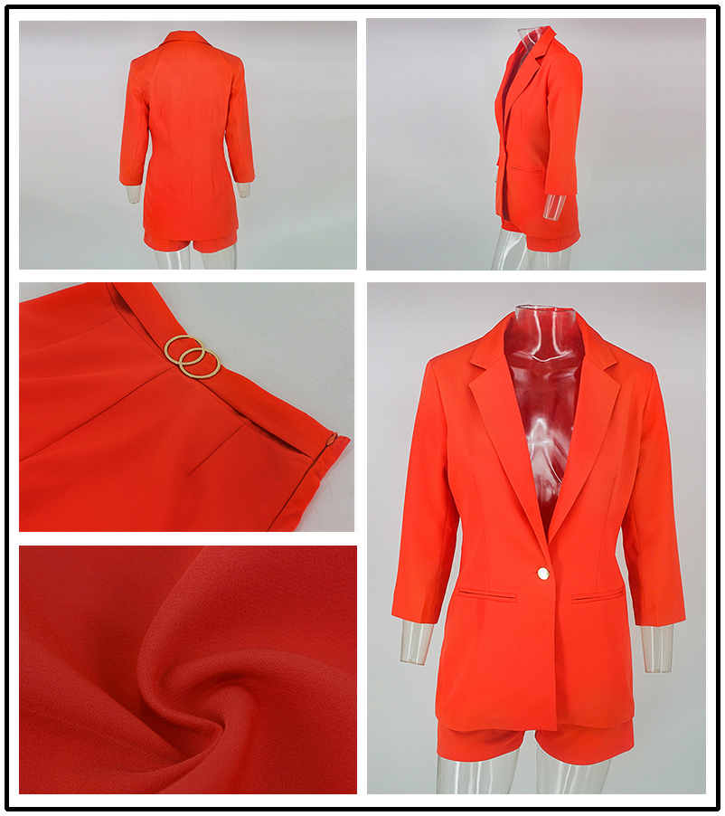PFFLOOK Work Ol Suit Female Blazer And Pants Suit Set Female Coat V Neck Sexy Chic Suit Women Office Set 2 Pieces Outfits Female 7