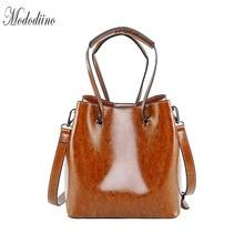 Mododiino Vintage Women Bucket Handbag High Quality Leather Shoulder Bag Crossbody Bags For 2019 Lady Handbags DNV1146