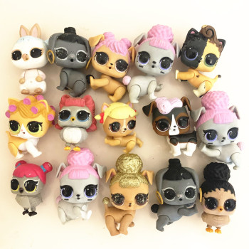 5/10pcs LOL Surprise Pets Figure Toys for Girls Puppy Collection Model Dolls Kid Birthday Christmas Gift