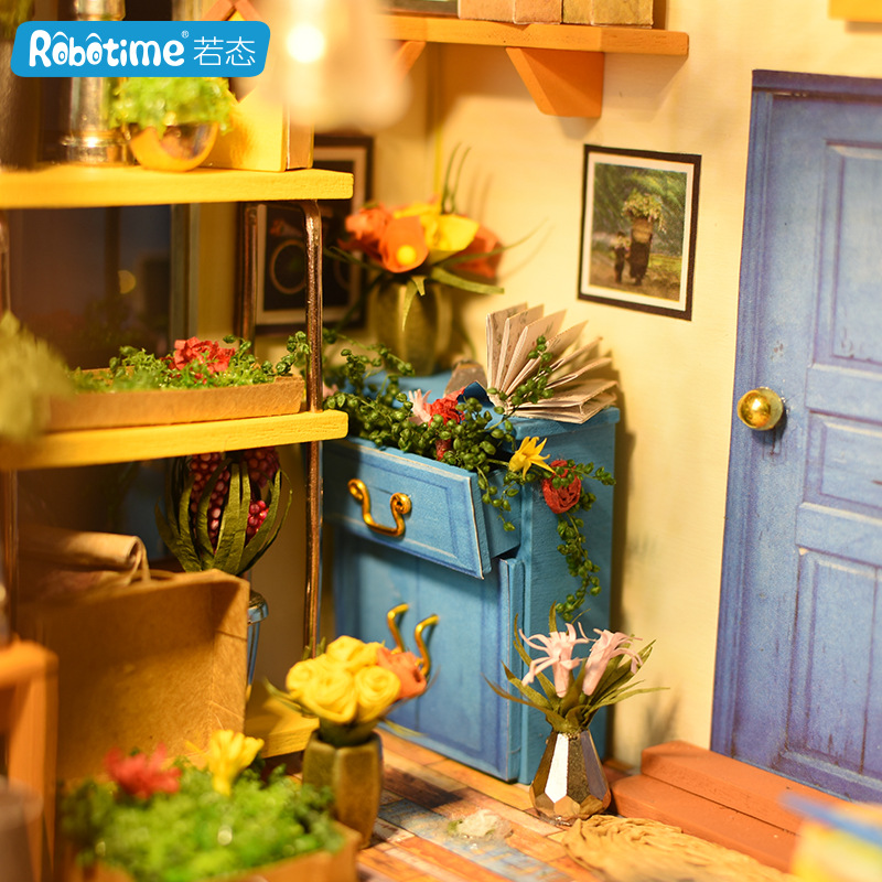 Robotime DIY Hut Art House Hand-made Small House Model Assembled Educational Toy Adult Kathy Greenhouse