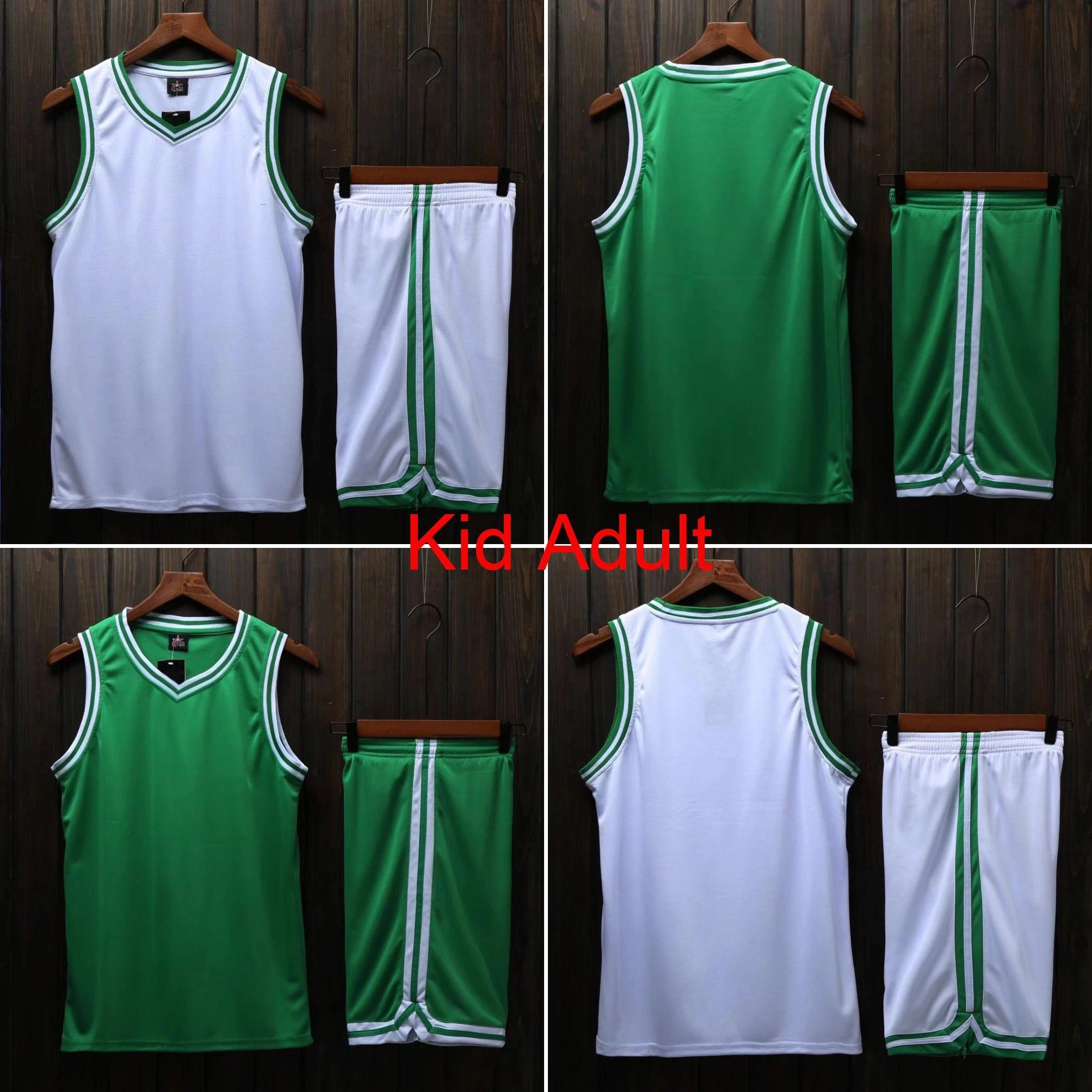Men College Jersey basketball , throwback basketball jersey , Child Cheap basketball Shirt , Custom Jerseys Clothing Green