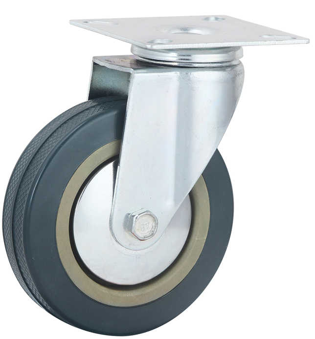 Hot Sale 2 Inch Roda Furnitur Abu-abu PVC Putar Light Duty Caster
