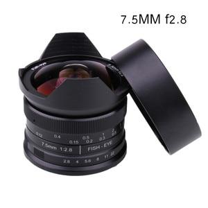 Image 1 - RISESPRAY lente de cámara de 7,5mm f2.8, lente de ojo de pez de 180 APS C, lente fija Manual para Fuji montaje FX, gran oferta, envío gratis
