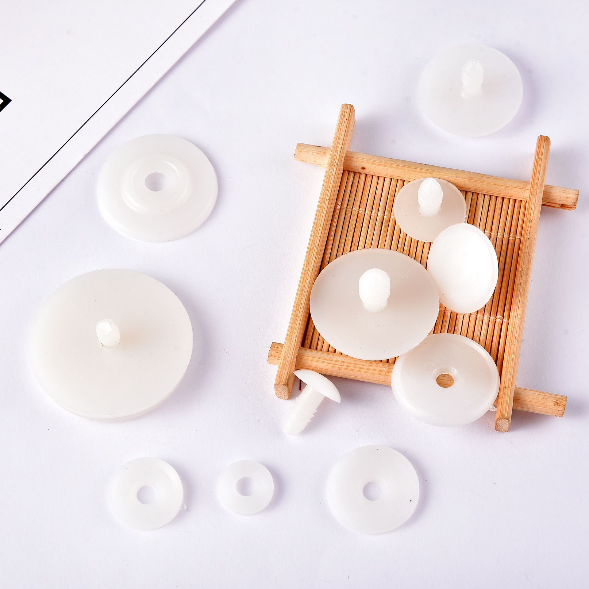 50 Set 15/20/25mm White Plastic DIY Doll Joints Teddy Bear Making Crafts Gifts Kids Toy Dolls Accessories Gifts For Child Toys