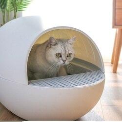 Intelligente Katze Sandkasten Schwerkraft Automatische Sensor Pet Wurf Box Deodorant Splash Proof Intelligente Selbst Reinigung Geschlossen wurf Tablett