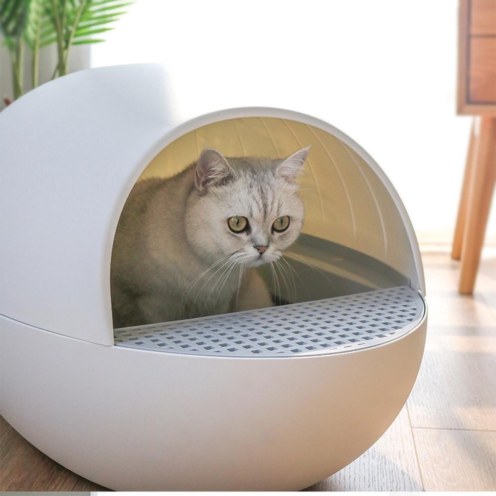 Smart Cat Sandbox Gravity Automatic Sensor Pet Litter Box Deodorant Splash Proof Intelligent Self Cleaning Closed Litter Tray