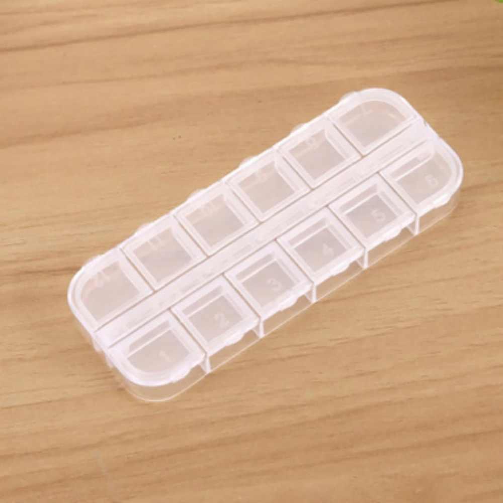 Leve Caso Caixa de Armazenamento De Jóias De Plástico Transparente Miçangas Da Arte Do Prego Ferramentas Ferramentas do Ofício Organizador De Armazenamento