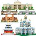 Мини-микроблоки, алмазная архитектура, строительные блоки, всемирно известный Университет MIT London Expert Sets, Белый дом Тадж-махала
