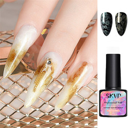 SKVP Watercolor Ink Gel Nail Polish Glitter Pearlescent Blooming Liquid Polish UV Gel Effect Marble Smudge Nails Gradient