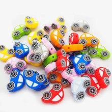 Chengkai 8 шт. силиконовые бусины в виде автомобилей Детские мультфильм прорезывание зубов BPA бесплатно для DIY Младенческая Успокаивающая соска Уход браслет игрушки аксессуар