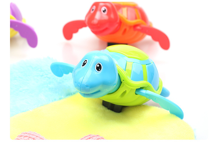 D Children Play With Water Bath Toy Little Turtle-Winding Spring Baby Infant Water Swimming Pool Water