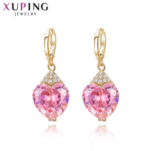 Xuping Fashion Luxury Earrings for Women Synthetic CZ Plated Eardrops Jewelry Beautiful Christmas Day Gift 27656