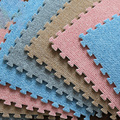 Игровой коврик-пазл Meitoku EVA  в полоску  из ворса и ковра  мягкий  безопасный  каждый: 32x32 см  9 шт./пакет  [без края]