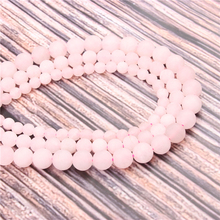Hot?Sale?Natural?Stone?Frosted Powder15.5?Pick?Size?4/6/8/10/12mm?fit?Diy?Charms?Beads?Jewelry?Making?Accessories