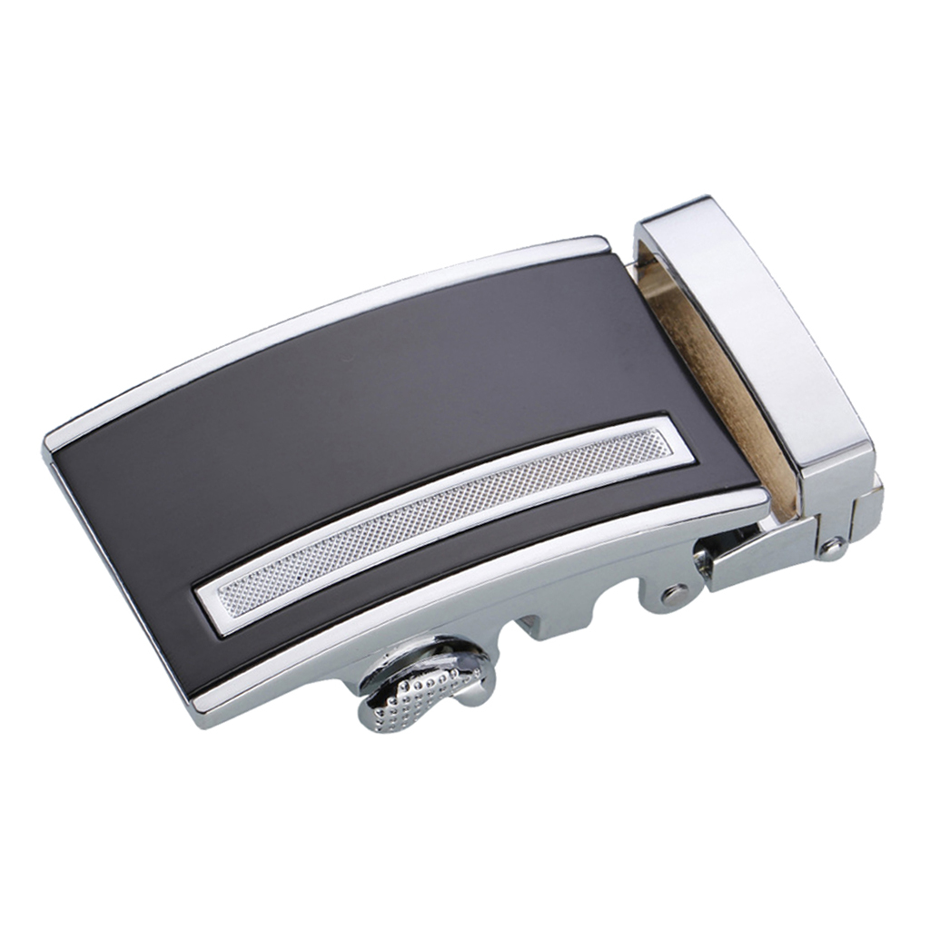 Mens Ratchet Leather Belt Buckle, Automatic Slide Buckle For Belt Strap 35mm