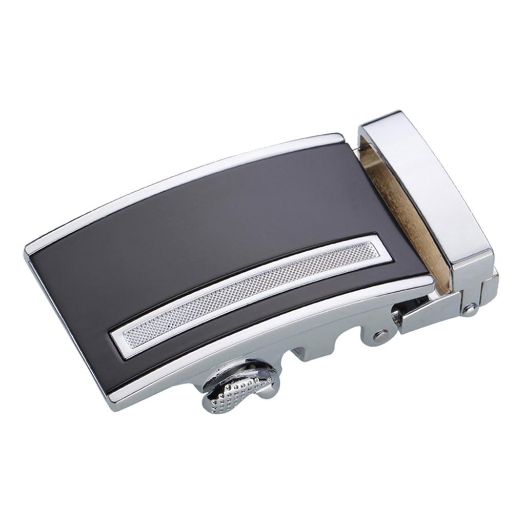 Mens Ratchet Leather Belt Buckle, Automatic Slide Buckle For Belt Strap 35mm
